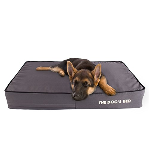 The Dogs Bed, Premium Orthopedic Memory Foam Waterproof Dog Beds, Many Colors/Sizes, Eases Pain of Arthritis & Hip Dysplasia, Therapeutic & Supportive Bed, Washable Quality Oxford Fabric Cover