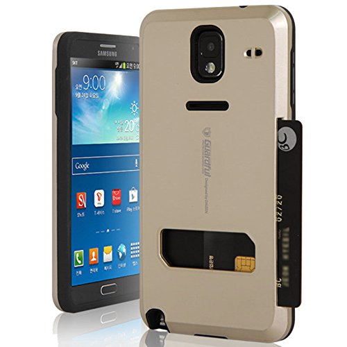 buy popular 63b1d dc586 Galaxy Note Edge Case,[Gold] Guardful [Shockproof] Credit Card Case ...