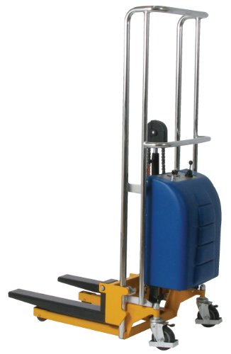 Wesco-Industrial-Products-273204-Electric-Value-Lift-Stacker-Polyurethane-Wheels-880-lb-Load-Capacity-225-x-44-x-68