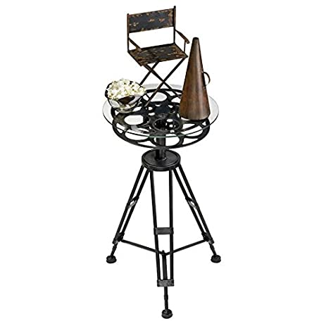 Amazoncom Design Toscano Cinema Film Reel End Table Kitchen