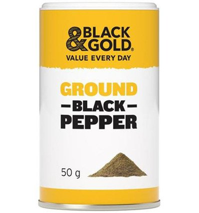 Black & Gold Ground Black Pepper 50gm