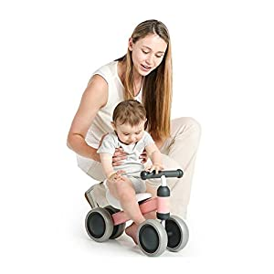 Besource Baby Balance Bike Lightweight No-Pedal Toddler Trike Children Mini Bike for 10 Months+ Baby Girls and Boys Learn to Walk and Keep Balance Ride Toys, Pink