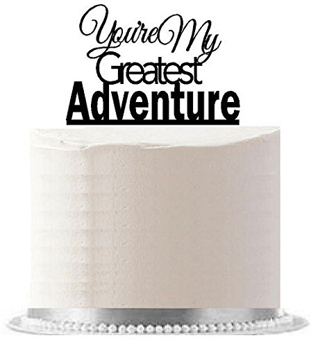 youre-my-greatest-adventure-black-wedding-engagement-party-elegant-cake-decoration-topper