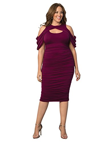 Kiyonna-Womens-Plus-Size-Bianca-Ruched-Dress