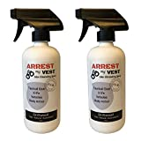 Arrest My Vest Military and Police Grade Odor Eliminating Spray for Body Armor Odor, Tactical Gear. Safe on K9's. Safe on All Ballistic Vests and Fabrics - New Driftwood Fragrance - 2 16 oz Bottles