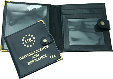 0830b657f612 Red Driving Licence   Insurance Personalised Wallet  Amazon.co.uk ...
