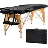 """New Black 73"""" Portable Massage Table w/Free Carry Case Chair Bed Spa Facial"""