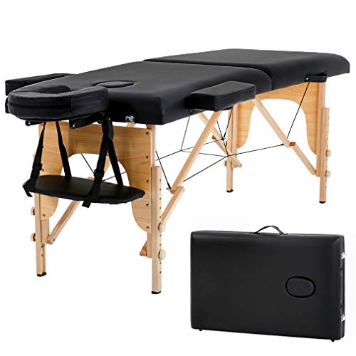 Massage Table Massage Bed Spa Bed 73' Long 2 Folding Portable Massage Table W/Carry Case Heigh Adjustable Salon Bed Face Cradle Bed