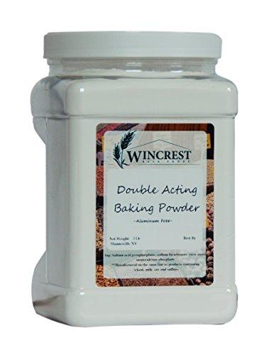 [Double Acting Baking Powder - Aluminum Free - 3 Lb Economy Size Tub] (Acting Moisture)
