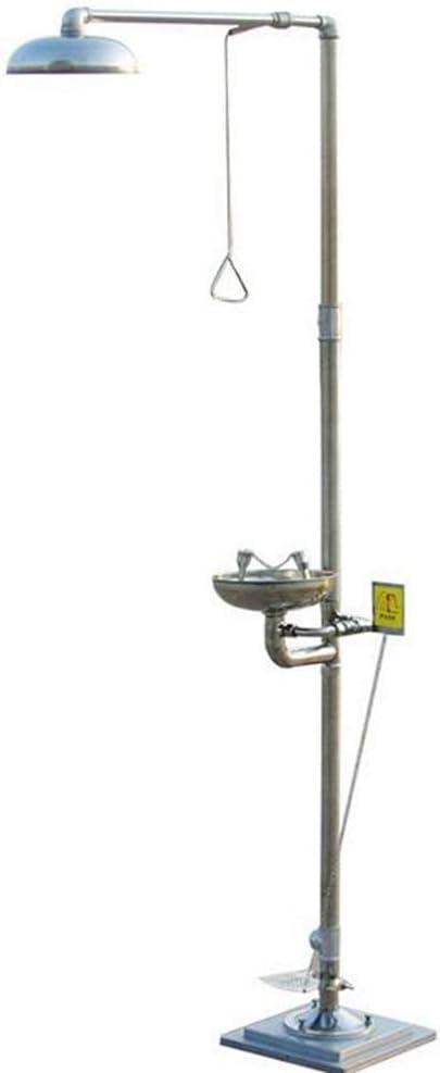 JL Estación combinada de Emergencia Estación de Ducha lavaojos Tazón de Acero Inoxidable 304 Ducha de Seguridad Lavaojos Sistema de Ducha de Emergencia,B