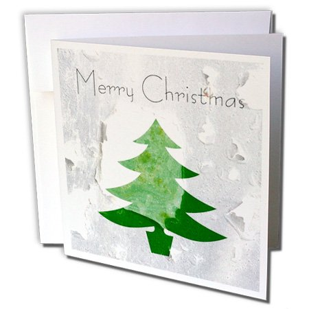 Price comparison product image 3dRose Vintage Wall Paper Christmas Tree Greeting Cards, Set of 12 (gc_28001_2)