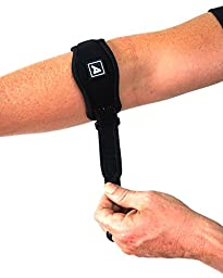 Tennis Elbow Brace Strap (Two Pack) With FREE Carry Bag - Adjustable Elbow Support With Gel Compression Pad - Forearm Brace Suitable for Golfers Elbow Tennis Elbow and Tendonitis