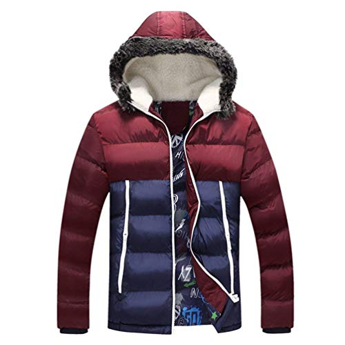 Sintética Chaquetas Forro Piel Hombres Con Capucha Adelina Rot Coat De Para Invierno wfxZq8