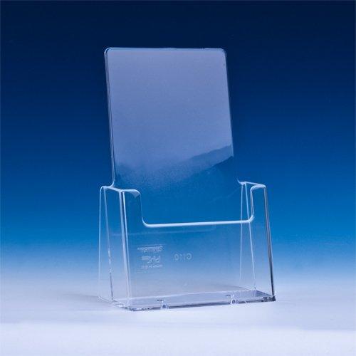 TAYMAR® DIN lang (105×210mm) Flyerhalter / Prospekthalter / Prospektständer, Transparent (C110)