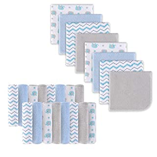 Baby Washcloths, Extra Soft and Ultra Absorbent Bath Cloth, Great Gifts for Newborn and Infants, 24 Pack, Elephant