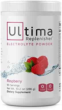 Ultima Hydrating Electrolyte Powder, Raspberry, 90 Servings, no Sugar, 0 Carbs or Calories, Keto, Gluten-Free, Paleo, Non-GMO, Vegan, with Magnesium, Potassium, Calcium