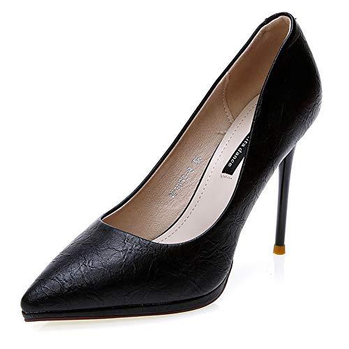 Femmes Robe forme eu35 Noir Pour De Aiguilles Plate Beige yellow Hgdr Mariage Jaune Soirée Black Talons dYpqd4