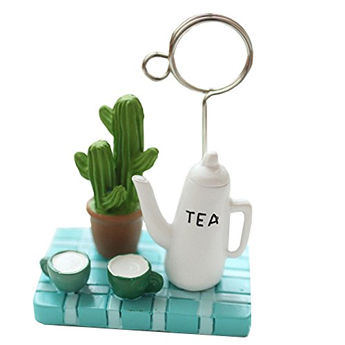 Cute Micro Landscape Teapot Strawberry Tree Card Memo Note Holder Clip - Random Color & Style