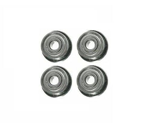 """Pack of 4 way Steel Case Flanged Ball Bearings 1//2/"""" ID x 1-3//8/"""" OD"""