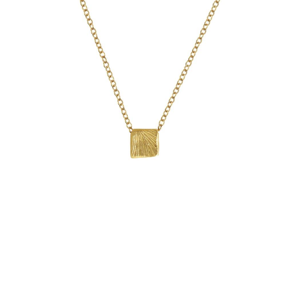 Catherine Weitzman Delicate Koa Textured Necklace
