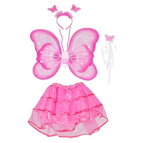 Fairy Butterfly Wing 4 Piece Set Costume Tutu
