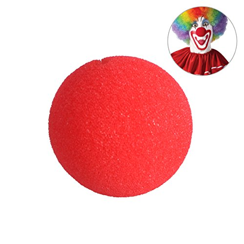 Tinksky Foam Clown Nose One Size Red Nose Clown for Halloween Masquerade Cospaly Halloween Costumes (Red)
