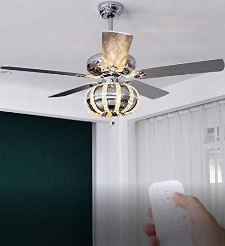 Modern 52″ K9 Crystal Chandelier Fan Fandelier Ceiling Fan