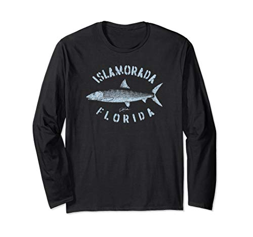 JCombs: Islamorada, FL, Bonefish (Distressed) Long Sleeve T-Shirt
