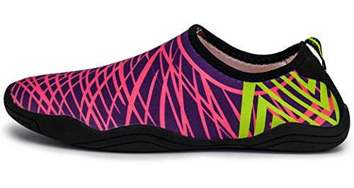 Yoga de Zapatos de de Agua A1 esnórquel Goma Yoga haoYK Antideslizantes Secado Ligeros Rose Suave para rápido Playa 6wxSqn5d