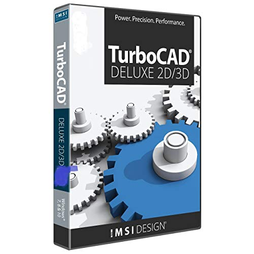 TurboCAD Deluxe 2019 2D Design & 3D Modeling CAD Software for Windows (Turbocad Software)