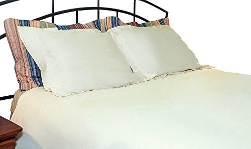Whisper Organics Duvet Cover, Organic 100% Cotton Duvet Cover, 300 Thread Count (King/California King, Ivory) (Barn Linen Silk Duvet Pottery)