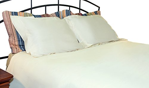 (Whisper Organics Duvet Cover, Organic 100% Cotton Duvet Cover, 300 Thread Count (Full/Queen, Ivory))