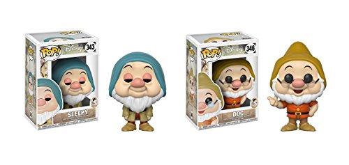 Funko POP! Disney's Snow White and the Seven Dwarfs Sleepy Dwarf and Doc Dwarf Toy Action Figure - 2 POP BUNDLE ()