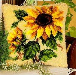 Vervaco PN-0014168 Knüpfkissen 3595 Sonnenblume