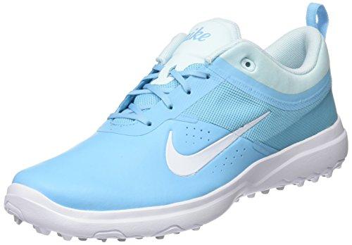 NIKE Womens Akamai Golf Shoes (8 B US, Vivid Sky/White-Glacier Blue)