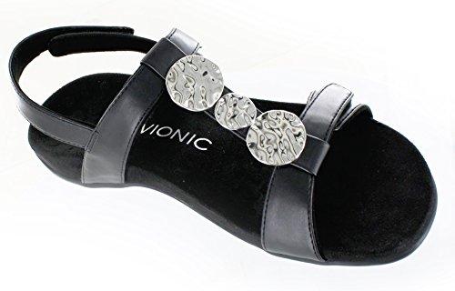 Vionic Vrouwen Farra T-strap Sandaal, Goud Cork, 10 B (m) Ons Black / Zwart