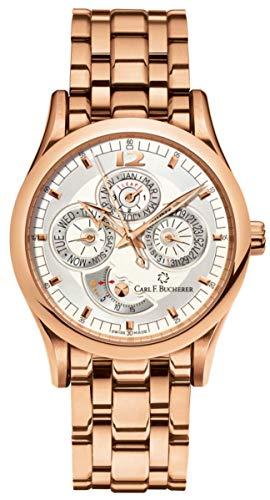 Carl F. Bucherer Manero Perpetual 18K Rose Gold Day Date Month Bracelet Automatic Men's Watch 00.10902.03.16.21