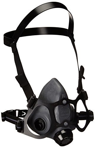 Honeywell 550030M 5500 Series Low Maintenance Half Mask Respirator, 1/2 Mask Air Purify, Medium (Pack of 12) - Mask Respirators Series 5500 Half