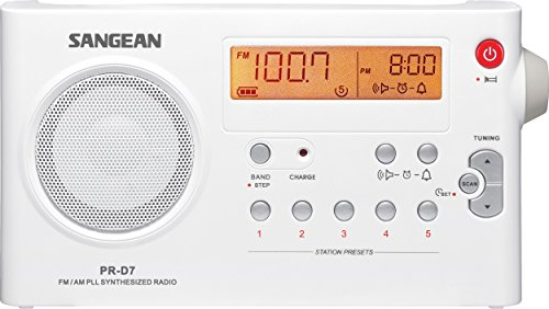Sangean PR-D7 AM/FM Digital Rechargeable Portable Radio - Wh