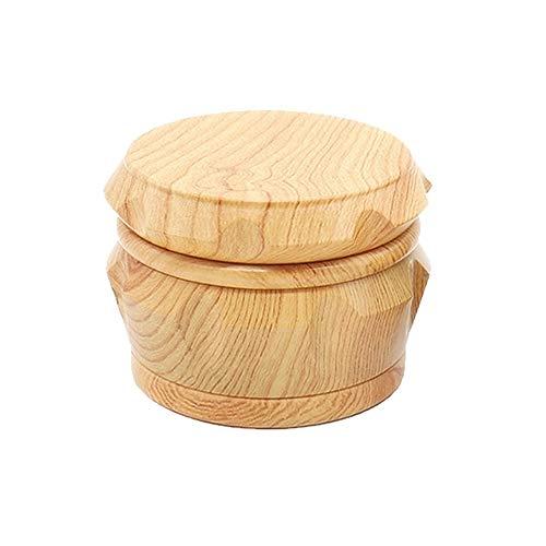 - Wooden Herb Grinder, Classic Yellow Wood Herb Grinder, 2.5 inch 4 Piece Herb Spice Grinders with Pollen Catcher