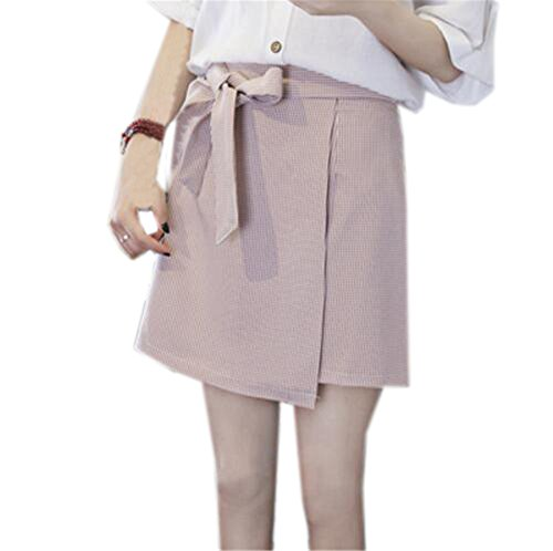 Taille t Jupe Mini Femme Jupe Pink Jupe Femelle Unie Couleur Jupe A Aoliait Court Grande Amincissante Haute Taille Jupe en Line Tad7Twx