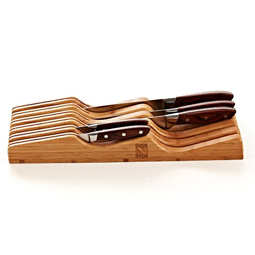 Cook N Home In-Drawer Bamboo Knife Storage Block, 11 Slot by Cook N Home (Image #4)