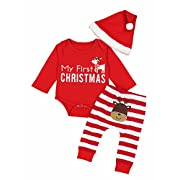 Doding Christmas Outfits Baby Boys Girls My First Christmas Rompers Clothes Set 0-6 Months