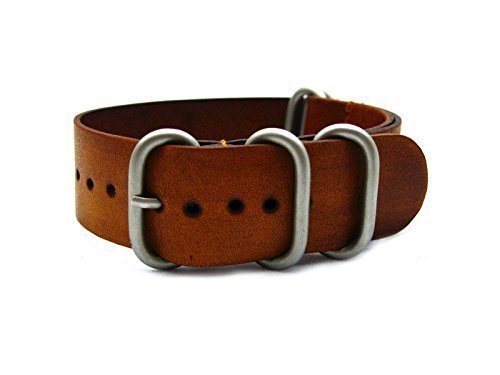 HNS-ZULUPATH-24mm-Handmade-Vintage-Washing-Honey-Calf-Leather-Watch-Strap-5-PVD-Coated-Ring-ZUL038