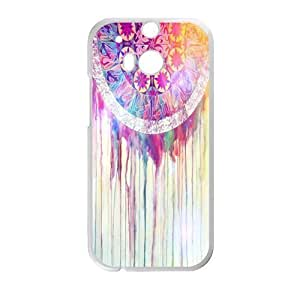 Colorful Cloud Feather Dream Catcher Pattern Hard Case Htc One M7 Shell Case Cover (Laser Technology)