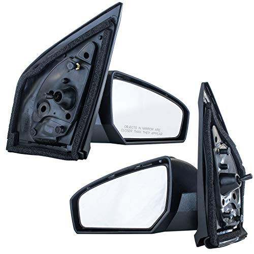 Dependable Direct Passenger and Drivers Side Unpainted Folding Mirrors (Pair) for 07-12 Nissan Sentra - Parts Link #'s NI1321166 and NI1320166