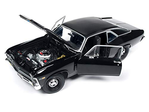 1969 Chevrolet Yenko Nova SS Gloss Black MCACN 10th Anniversary Limited Edition to 1002 Pieces Worldwide 1/18 Diecast Model Car by Autoworld AMM1178