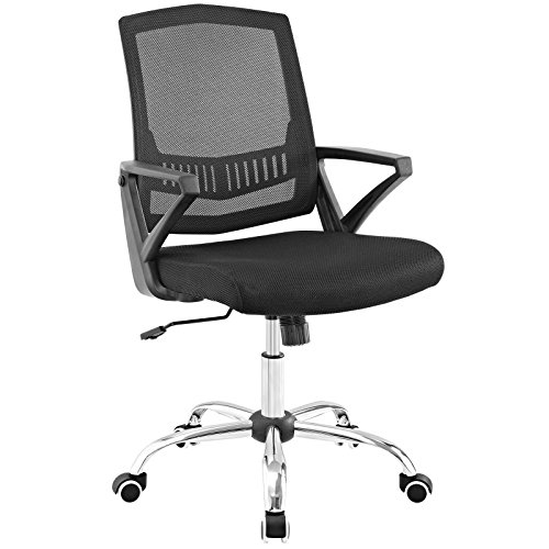 Modway Proceed High-Back Nylon and Mesh Office Chair on Dual-Wheel Casters In Black by Modway