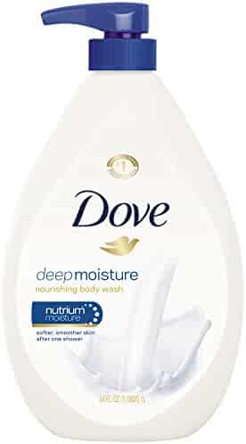 Dove  Body Wash with Pump, Deep Moisture 34 oz