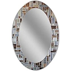 "Headwest Windsor Oval Tile Wall Mirror, 21"" x 31"""